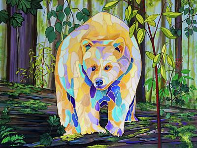 Kermode Painting - Melanie by Linda Nikkel-Klippenstein