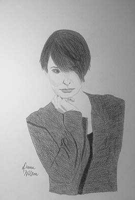 Georgetown Drawing - Melanie Number 9 Black And White by Donna Wilson