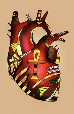 Drawing - Melanin Heart by Kenal Louis