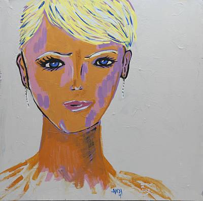 Lip Stick Painting - Melany by Andi Kozak