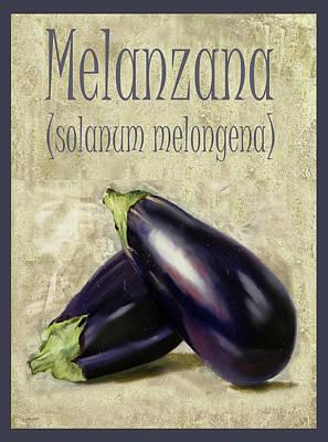Painting Rights Managed Images - Melanzana Solanum melongena Royalty-Free Image by Guido Borelli