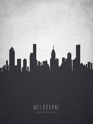 Victoria Painting - Melbourne Australia Cityscape 19 by Aged Pixel