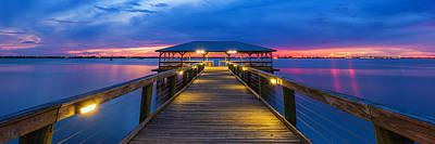 Photograph - Melbourne Beach Pier Panorama by Stefan Mazzola