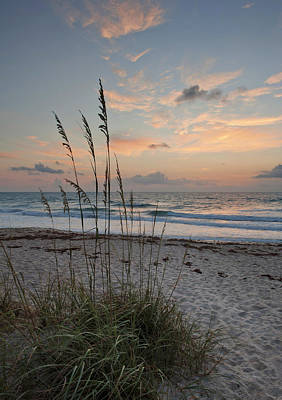 Melbourne Beach Sunrise Print by Cheryl Davis