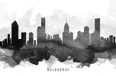Victoria Painting - Melbourne Cityscape 11 by Aged Pixel