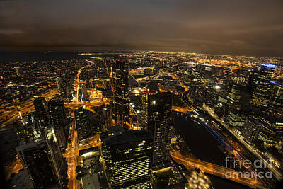Photograph - Melbourne Glow by Ray Warren