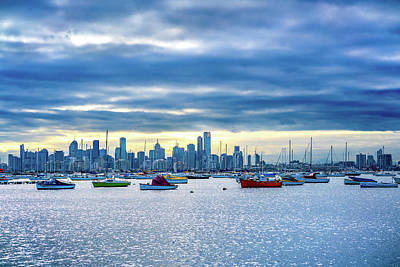 Photograph - Melbourne Skyline by Max Neivandt