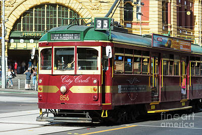 Melbourne Tram Art Print by Andrew Michael