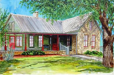 Mike Martin Painting - Melcher House by Mike Martin