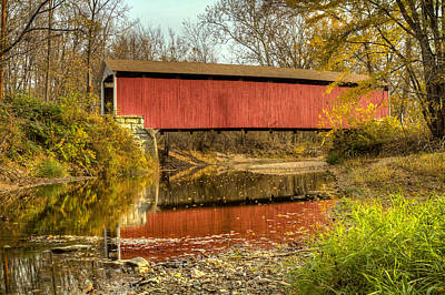 Photograph - Melcher/klondyke/marion Covered Bridge by Jack R Perry