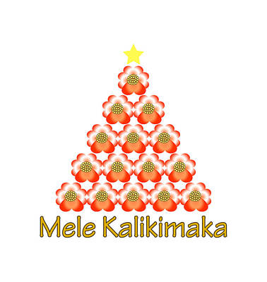 Digital Art - Mele Kalikimaka by Donna Cervelli