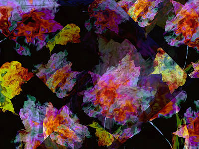 Free Form Digital Art - Melee On The Wind by Lynda Lehmann