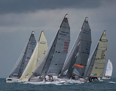 Photograph - Melges 24 Key West by Steven Lapkin