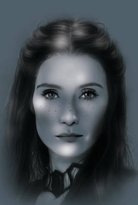 Game Lights Drawing - Melisandre, The Red Woman by Marina Pacurar