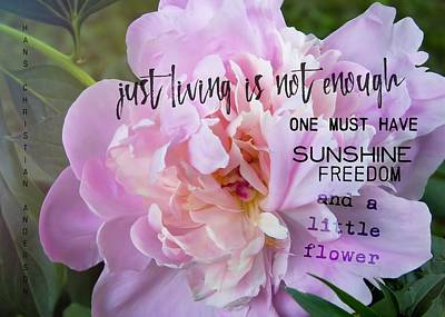 Melissa's Flower Quote Art Print by JAMART Photography