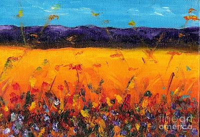 Fields Of Flowers Painting - Melissa's Meadow by Frances Marino