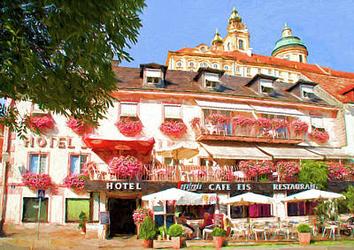 Mixed Media - Melk Hotel by Dennis Cox