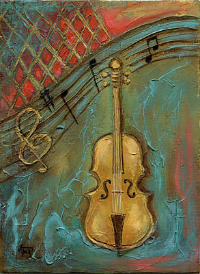 Mixed Media - Mello Cello by Terry Webb Harshman