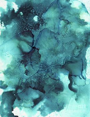 Painting - Mellow Blue Abstract by Melly Terpening