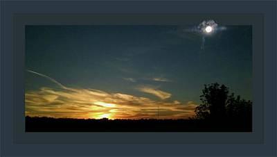 Digital Art - Mellow Evening Sunset by Ellen Barron O'Reilly