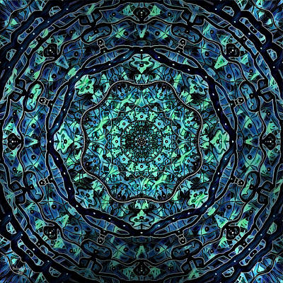 Digital Art - Mellow Mandala by Artful Oasis