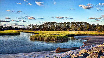 Photograph - Mellow Marsh by Paula Porterfield-Izzo