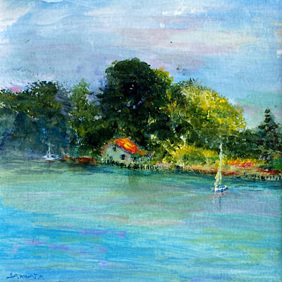Painting - Mellow Morning by Laurie Samara-Schlageter