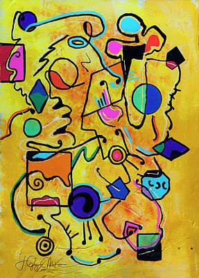 Painting - Mellow Yellow 1 by Jo-Anne Gazo-McKim