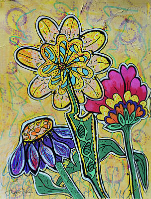 Painting - Mellow Yellow 3 by Jo-Anne Gazo-McKim