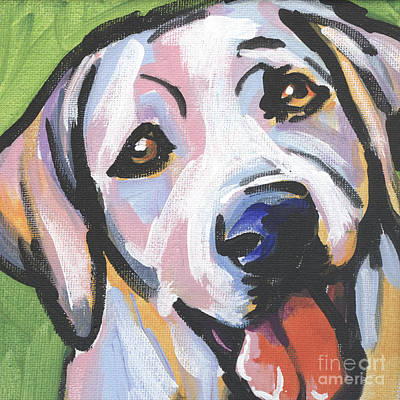 Puppy Painting - Mellow Yellow by Lea S