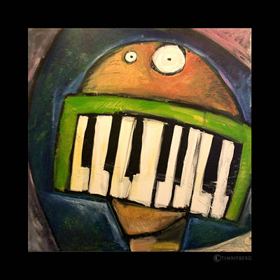 Cartoon Painting - Melodica Mouth by Tim Nyberg