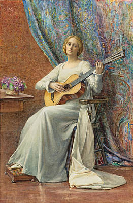 Drawing - Melody by Henry Meynell Rheam