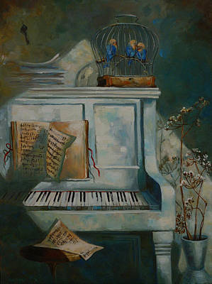 Cage Painting - Melody by Nelly Baksht