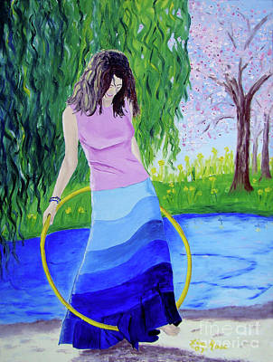 Painting - Melodys Hoop by Lisa Rose Musselwhite