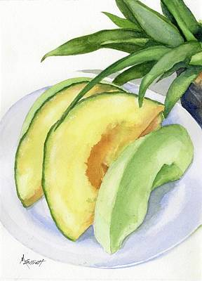 Melons Painting - Melon Color Baby by Marsha Elliott