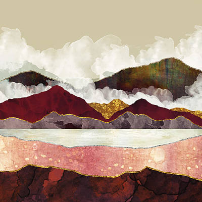 Landscape Wall Art - Digital Art - Melon Mountains by Katherine Smit