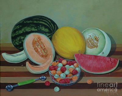 Painting - Melon Still Life by Michael Nowak