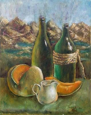 Melone With Bottles Original by Ina Bonda