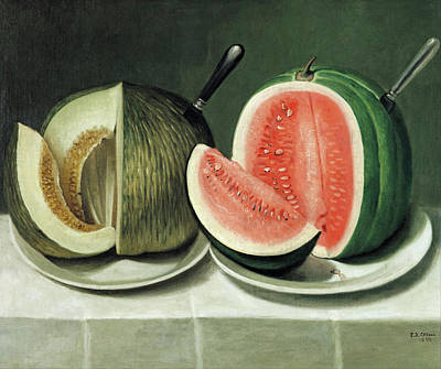 Painting - Melons by Daoud Corm