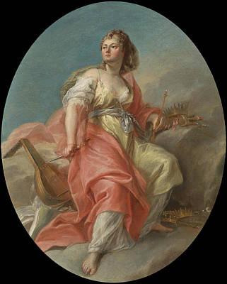 Zeus Painting - Melpomene by Attributed to Nicolas-Guy Brenet