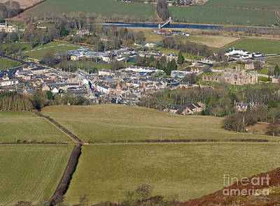Photograph - Melrose Abbey And Town by Phil Banks