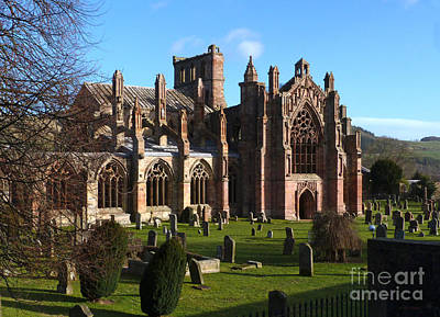 Photograph - Melrose Abbey  by Phil Banks