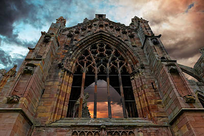 Photograph - Melrose Abbey by Scott Hill