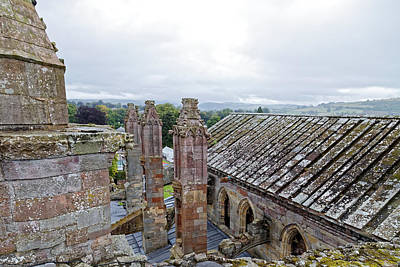 Photograph - Melrose Abbey View by Scott Hill