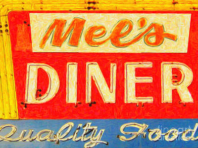Photograph - Mels Diner by Wingsdomain Art and Photography