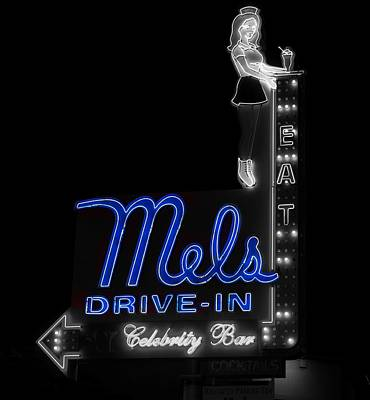 Mel's Drive-in - Hollywood California Art Print by Mountain Dreams