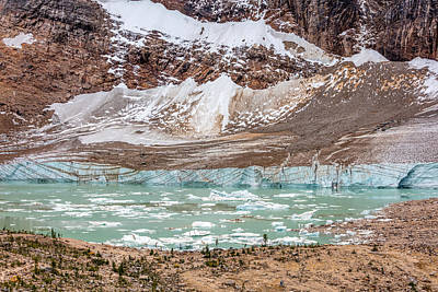 Water Photograph - Melt Water Lake Of Edith Cavell by Pierre Leclerc Photography