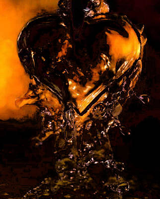Painting - Melted Heart by Tbone Oliver