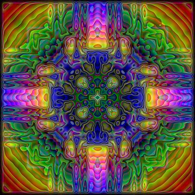 Kaleidoscope Digital Art - Melted by Lyle Hatch
