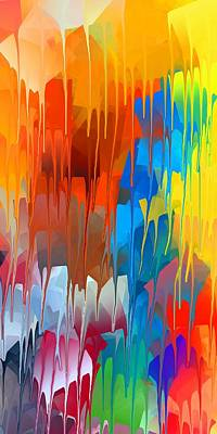 Color Digital Art - Melting Abstract 1 by Chris Butler